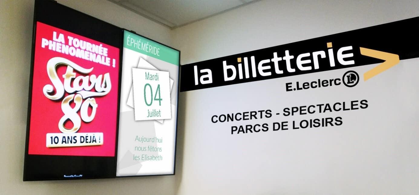 E.Leclerc équipé d'une solution d'affichage dynamique et utilisant des applications à disposition